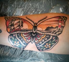Butterfly landscape